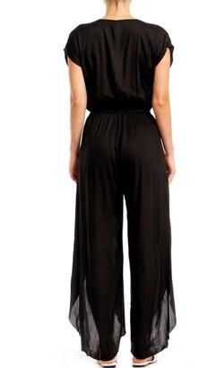 Elan International Short Sleeve V-Neck Jumpsuit