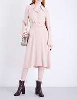 Co Buttoned crepe dress
