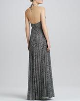 Kay Unger New York Animal-Print Halter Gown
