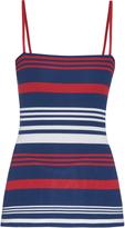 Dolce & Gabbana Riga striped ribbed silk-knit top