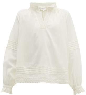 Sea Viola Lace-insert Cotton-blend Blouse - Womens - Cream