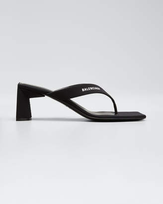 Balenciaga 60 mm Logo Thong Sandals