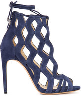 Alexandre Birman laser cut sandals - women - Suede - 37