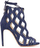 Alexandre Birman laser cut sandals - women - Suede - 37