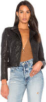 Muu Baa Muubaa Crinkle Moto Jacket in Black