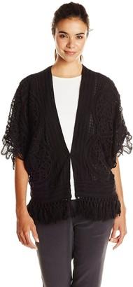 Greylin Women's Nikole Crochet Fringe Jacket