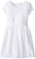 Us Angels Short Sleeve Embroidered Lace Dress with Full Skirt Girl's Dress