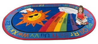 Kid Carpet Sky's the Limit Learning Area Rug Rug Size: 4' x 6'
