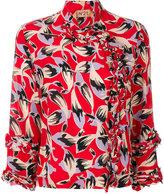 No.21 leaf printed blouse
