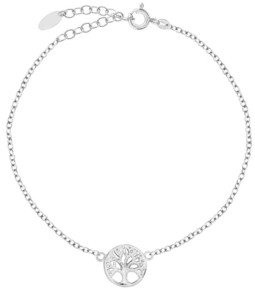 Sutton by Rhona Sutton Bodifine Sterling Silver Family Tree Anklet