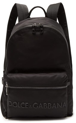 Dolce & Gabbana 3d Logo Technical-gabardine & Leather Backpack - Black