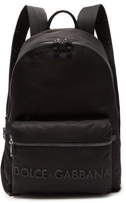 Dolce & Gabbana 3d Logo Technical-gabardine & Leather Backpack - Mens - Black