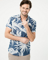 Le Château Tropical Print Cotton Slim Fit Shirt