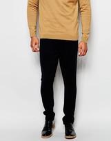 Asos Super Skinny Trousers Moleskin Look - Navy
