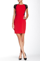 Julia Jordan Net Sleeve Dress