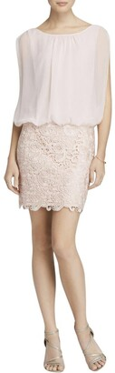Aidan Mattox Aidan Women's Sleevless Lace Blousson Cocktail Dress