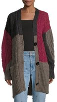 Etoile Isabel Marant Dailon Patchwork Cable-Knit Cardigan