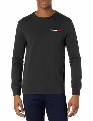Tommy Hilfiger Men's Long Sleeve Cotton T Shirt