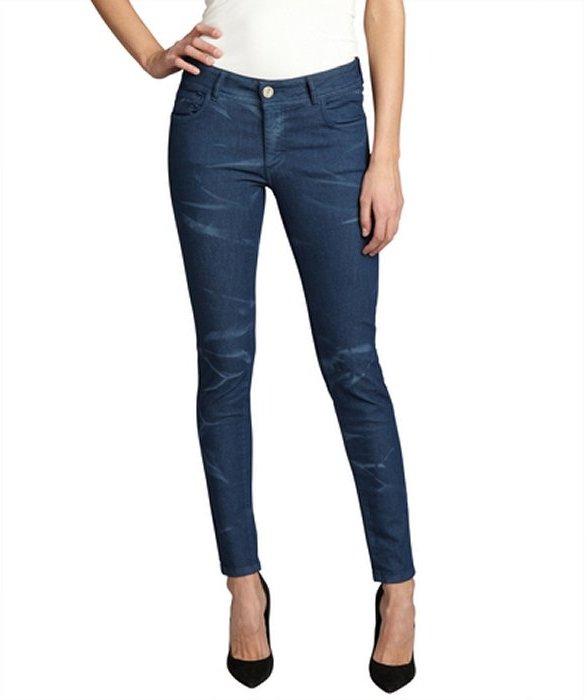 Romeo & Juliet Couture moroccan blue tie dye stretch denim skinny jeans
