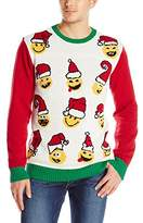 Ugly Christmas Sweater Men's Emoji Pullover