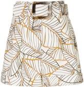 Nicholas Vintage Palm print shorts