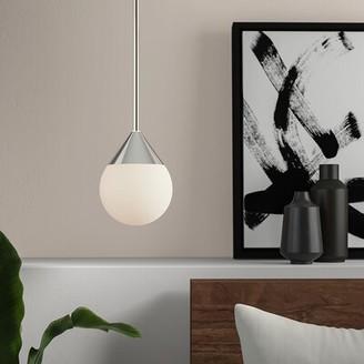 "Ledford 1 - Light Single Globe Pendant Mercury Row Size: 8"" H x 6"" W x 6"" D"