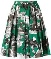 MSGM multiple print gathered skirt