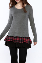 Twenty Second Plaid Ruffle Tunic