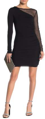 Bailey 44 Better Half Mesh Jersey Ruched Bodycon Dress