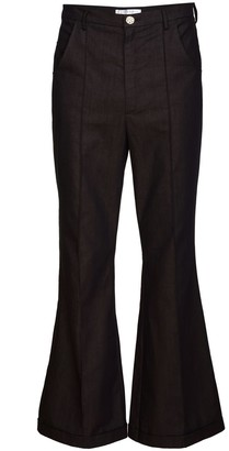 Jiri Kalfar Brown High Waist Trousers With Crease