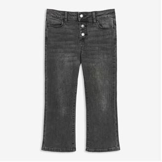 Joe Fresh Kid Girls' Black Kick Flare Jeans, Black (Size 14)