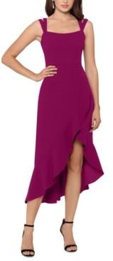 Xscape Evenings Double-Strap High-Low Midi Dress