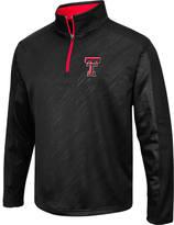 Men's Stadium Texas Tech Red Raiders College Embossed Sleet Quarter-Zip Pullover