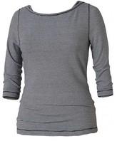 Royal Robbins Women's Kickback To Front Stripe 3/4 Sleeve Tee