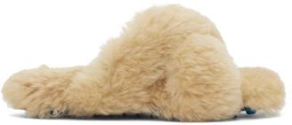 Off-White Beige Merino Spike Slipper