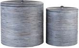 Lene Bjerre Bamboo Storage Jar Set Of 2 Large - Grey