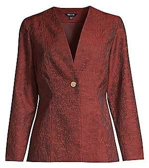 Misook Women's Wispy Pattern Jacquard Woven Jacket
