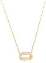 Marco Bicego Murano 18K Gold & 0.11 Total Ct. Diamond Link Pendant Necklace