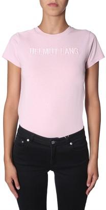 Helmut Lang Logo Embroidered T-Shirt
