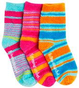 LittleMissMatched Marvelous Stripe Fuzzy Anklet Socks