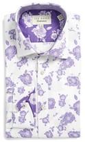 Ted Baker Men's Trim Fit Floral Dress Shirt