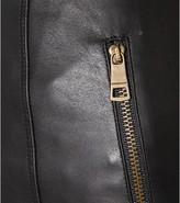 Burberry Lilianna leather and jersey dress