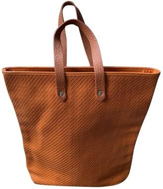 Hermes Orange Leather Handbags