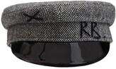 Thumbnail for your product : Ruslan Baginskiy Monogram Embroidered Wool Baker Boy Cap