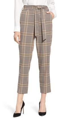 1 STATE Tie Waist Plaid Crop Pants
