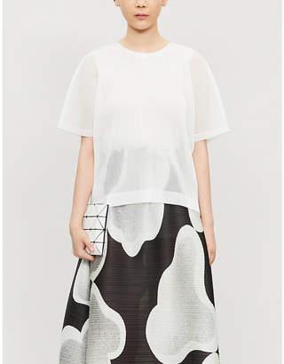 Pleats Please Issey Miyake Tatami mesh T-shirt