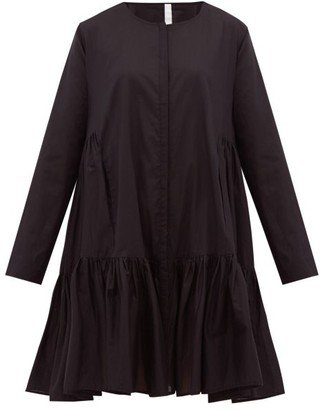 Merlette New York Martel Tiered Cotton-lawn Dress - Black