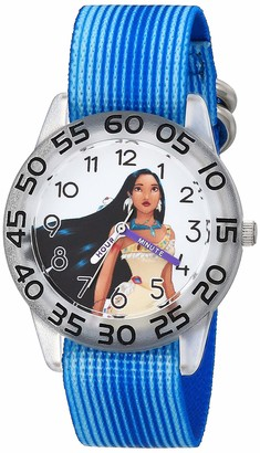 Disney Girls' Princess Analog Quartz Watch with Nylon Strap