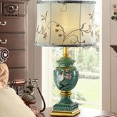FDH Creative continental lamp bedroom bedside lamps hand-painted decorative wedding cloth lamp dimmer button, 330*590 (mm)