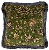 House Of Hackney - Zanjan Floral-print Cotton-velvet Cushion - Green Multi